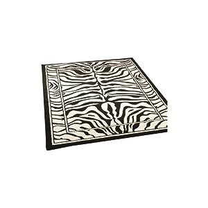 2 Sizes Available - Wildlife - Zebra Black/White - Animal Theme Rug by Flair Rugs