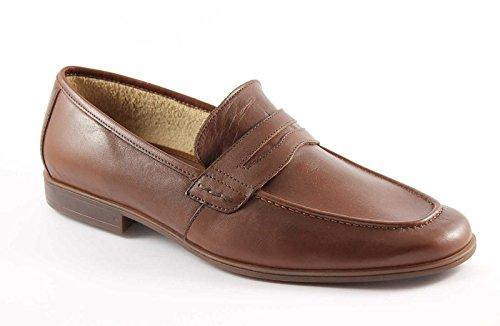 LION 20685 brandy scarpe uomo mocassini pelle antistatici 42.5