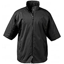 Greg Norman Epic Ultra Light 1/2 Sleeve Rain Jacket, Black, XX-Large