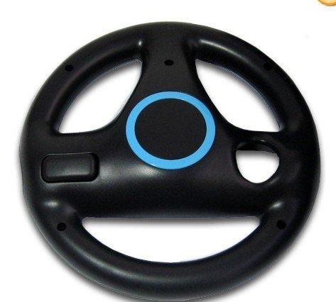 Black Steering Wheel For Wii Mario Kart Racing Game Remote Controller