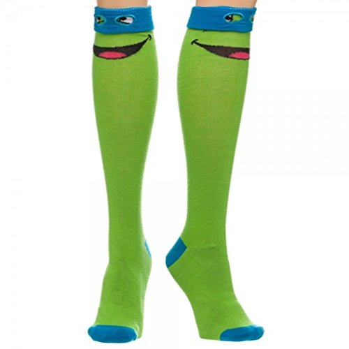 Teenage Mutant Ninja Turtles TMNT Leonardo Blue Mask Knee High Costume Socks