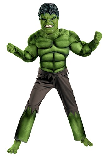 Boys Hulk Avengers Classic Muscle Kids Child Fancy Dress Party Halloween Costume