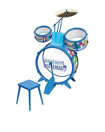 Musicales Bontempi Batería Azul Con Bombo, Pedal Y 2 Tambores