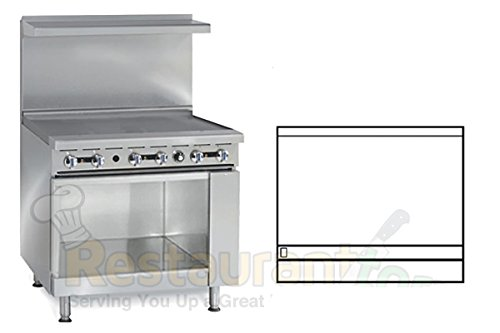 "Imperial Commercial Restaurant Range 36"" Griddle 1 Cabinet Base Propane Model Ir-G36-Xb"