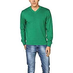 Provogue Men's Woolen Sweater (8903522444807_103568-GR-108_Large_Green)