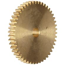 Brass Spur Gear 20 Degree Pressure Angle, Brass, Inch, 48 Pitch