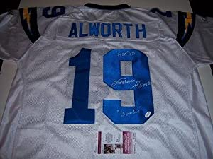 Lance Alworth Autographed Uniform - arkansas Jsa coa - Autographed NFL Jerseys by Sports+Memorabilia