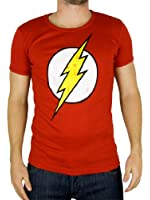 Logoshirt Homme DC Flash Logo T-Shirt, Rouge