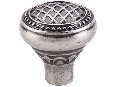 Top Knobs TK173 Trevi Series 1-5/16 inch Diameter Round Knob, Antique Pewter