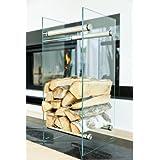 Log basket, log holder, log rack modern glass design