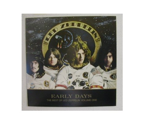Led Zeppelin Poster Early Days Band Shot As Astronauts 2 Sided Robert Plant Jimmy Page John Paul Jones John Bonham