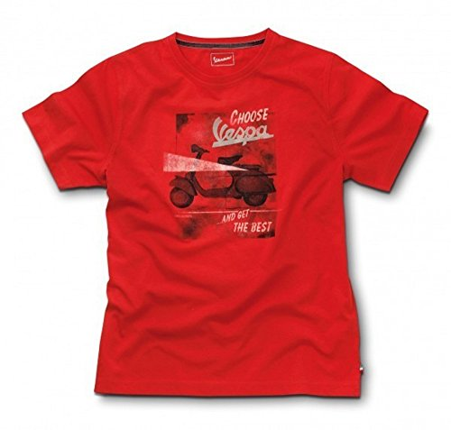 original-vespa-t-shirt-da-uomo-vintage-rosso-l