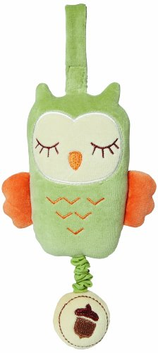 My Natural Owl Musical Pull Toy, Green front-1041117
