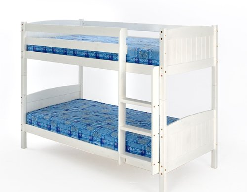 3ft (90cm) Christopher Bunk Bed with a White Finish