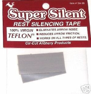 Adhesive Teflon Bow ARROW REST SILENCING & SPEED TAPE Archery
