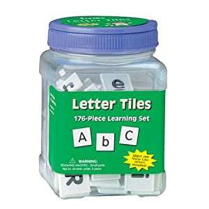 Click to buy <br>Spelling Games for Kids:  Eureka Tub Of Letter Tiles, 176 Tiles in 3 3/4