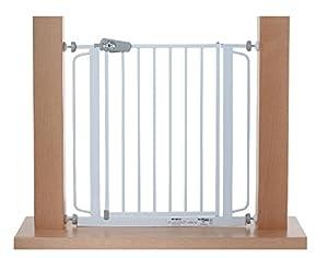 Impag® Puerta-rejillas de seguridad 75 - 148 cm para enganchar sin taladrar Tom - BebeHogar.com