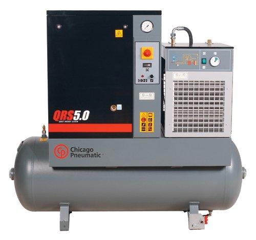 Chicago Pneumatic QRS5.0HPD-3 60-Gal. 5-HP. 3-ph. High-Perf. QRS Compressor w/Dryer