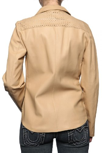 Cristiano di Thiene Leather Jacket CLOUDS, Color: Light Brown, Size: 36