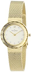 Skagen Leonora Analog Gold Dial Womens Watch - 456SGSG