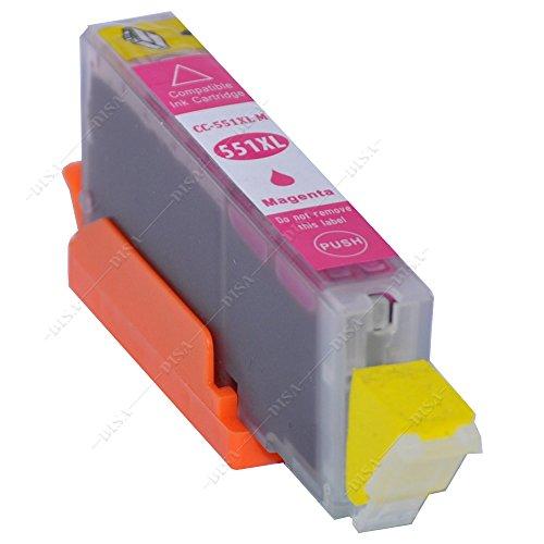 1 x Tintenpatrone mit Chip kompatibel zu CLI-551M Magenta Canon Pixma MX-Serie MX720 Series / MX725 / MX920 Series / MX925