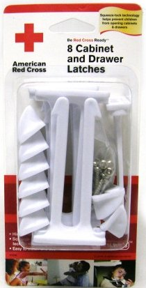 The First Years American Red Cross Cabinet And Drawer Latches (Discontinued by Manufacturer)