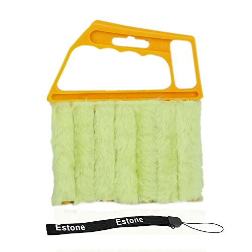 Estone® Microfibre Venetian Blind Brush Window Air Conditioner Duster Clean Cleaner (Yellow) front-572967