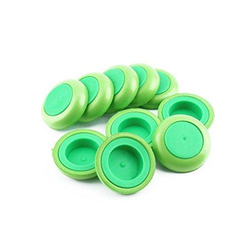 PIXNOR Disque vert disques recharge balle Blaster fléchettes arme-jouet pour Nerf - 10 pièces