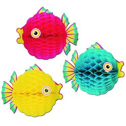 Tissue Bubble Fish (asstd colors) Party Accessory  (1 count) (1/Pkg)