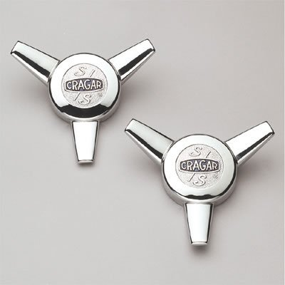 Cragar 09095-2: Center Cap, Aluminum, Chrome Plated, Bolt-On, Spinner, Pair (Cragar)