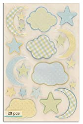 Martha Stewart Crafts Blue Cloud & Moon Stickers By The Package