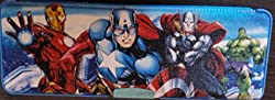 Fancy Medium Pencil Box (Captain America) With dual Sharpener Glittery surface