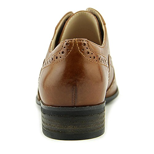 Clarks Women's Hamble Oak Dark Tan Leather Oxford 9 B (M)
