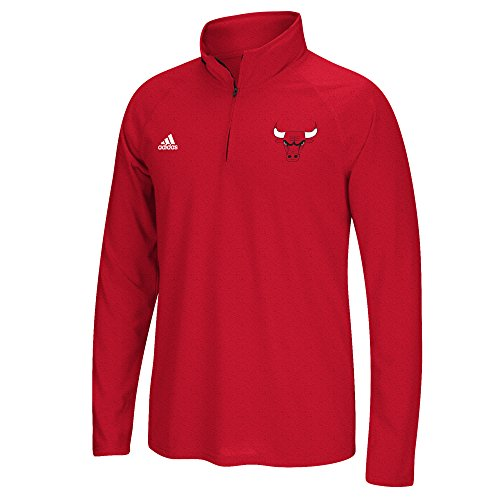 NBA Chicago Bulls Men's Climalite Ultimate Long Sleeve 1/4 Zip Top, Large, Red (Nba Clothing compare prices)