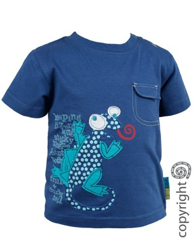 Bright Bots Baby Boy Blue Applique Tee Shirt / Top size 12-18 months