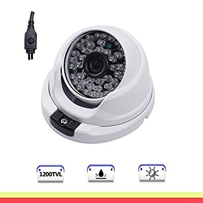 SW 1200TVL Day & Night Vision IR Dome Outdoor CCTV Security Camera with 3.6mm Wide View Angle 48 LEDs
