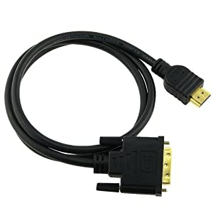 eForcity HDMI-M to DVI-M Cable, 3 feet / 1 metre