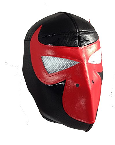 BANE MASK Adult Lucha Libre Wrestling Mask (pro-fit) Costume Wear - RED