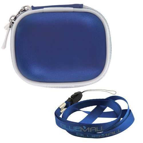 BIRUGEAR Blue Durable Eva Carrying Case + Strap Lanyard for Apple iPod Nano 8GB 16GB (6th Generation) 6 6G & iPod shuffle 2GB (4th Generation)