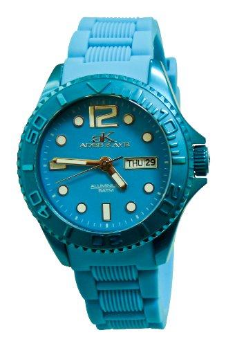 Adee Kaye D' Aluminio ak5433-L/BU 47.4x42.3mm Aluminium Case Blue Silicone Mineral Women's Watch