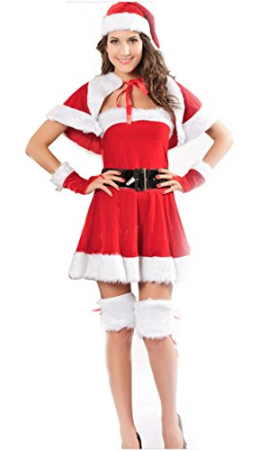 YouGe Women's Sexy Naughty Santa Dress Lingerie Christmas Outfit Costume