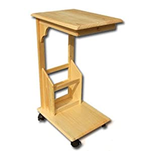 Table de lit roulante en bois table pour ordinateur for Meuble ordinateur portable