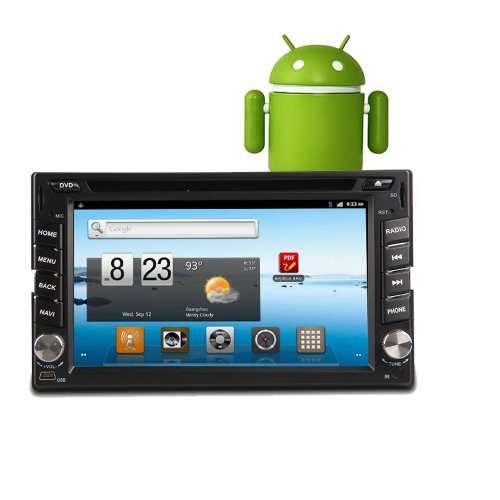 Ouku 2 Din Android In Dash Car Pc Dvd Player Gps Navigation Head Dek Stero Radio+1Ghz Cpu+522Mb Ddr3+8Gb Flash+Free Wifi Adapter+3G Function+Free Android App Software Download