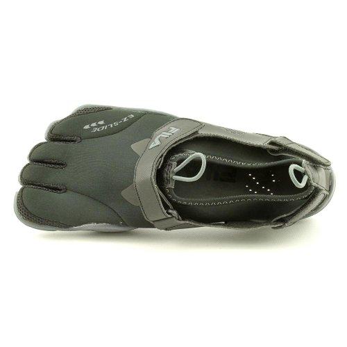 Fila Skeletoes Ez Slide Drainage Mens Shoes Minimalist Five Finger Shoes, Black/Castlerock, Sz 12