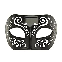 Dream Tale Black Venetian Masquerade Mask Mardi Gras Prom Party (STC12923)