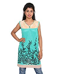Ninelions fashions Green & biscuit colour long top