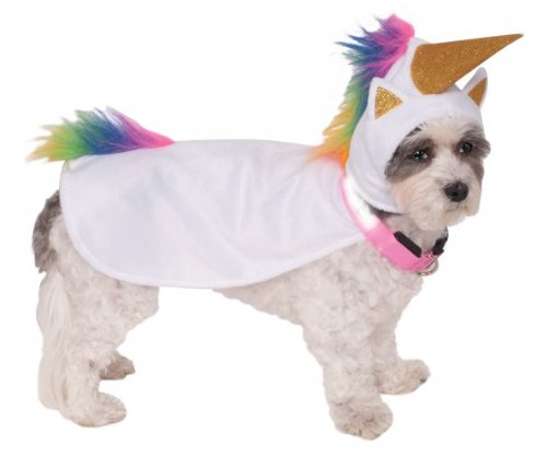 Rubies Costume Company Unicorn Cape with Hood and Light-Up Collar for Pets, Medium