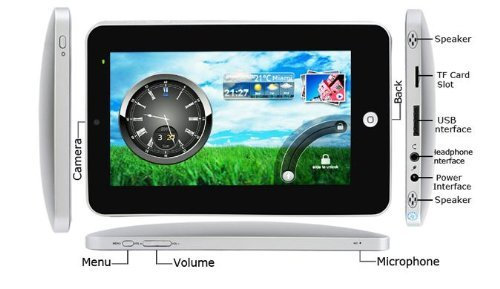Tursion 7 Inch Android 2.2 Tablet PC WIFI & 3G WITH 1.3 MP Camera, 2 point Touch Screen, Flash 10.1