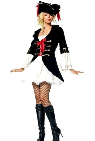 Lady Captain Pirate Fancy Dress Costume