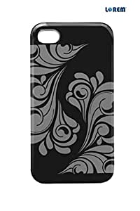 Lorem Back Cover For Apple iPhone 4/4S-Black-L30428